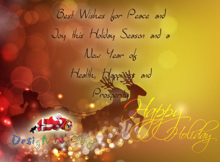 Happy Holidays and New Year