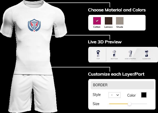 Sports Apparel Design Tool software, Sports Uniform Builder, Sports