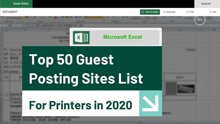 Top 50 Guest Posting Sites List for Printers in 2020