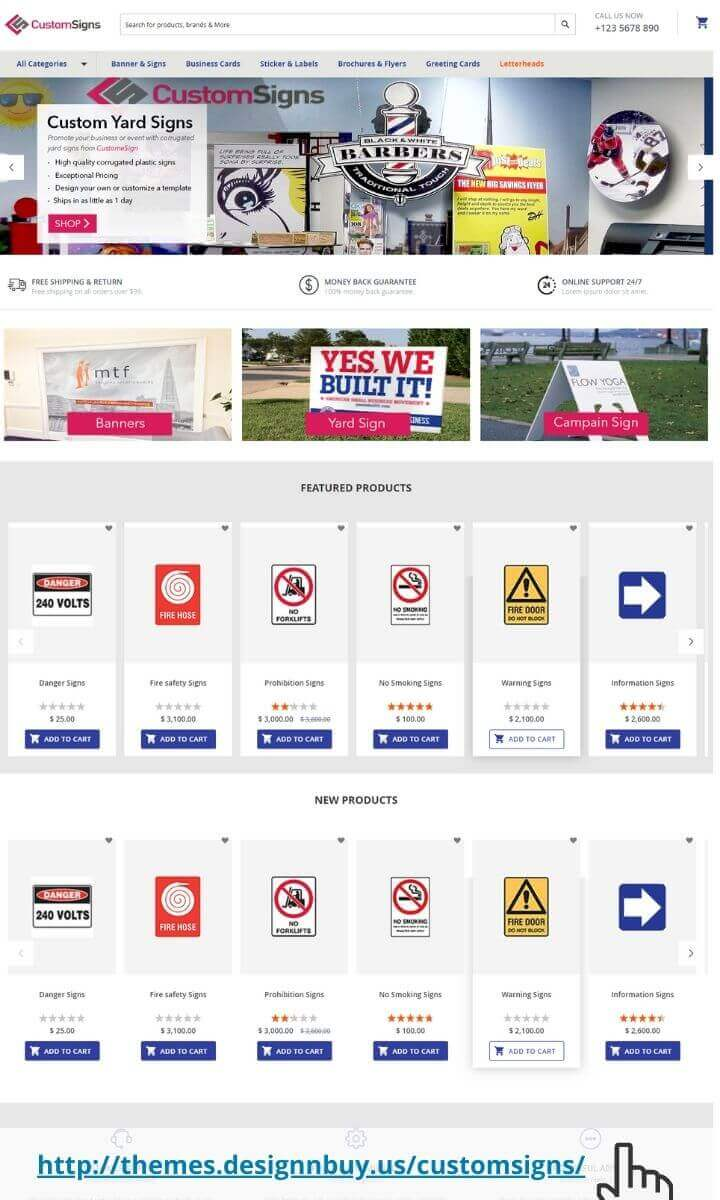 Magento 2 theme for signs