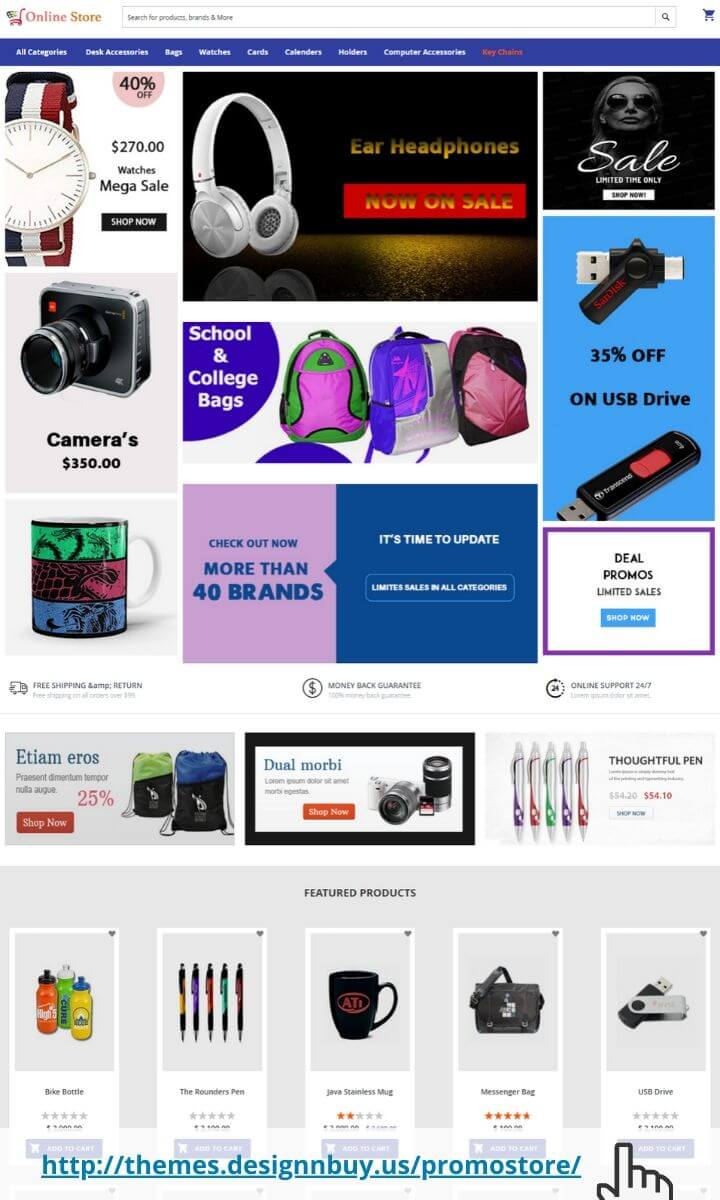 Promo products magento 2 theme