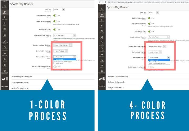 1 & 4 color process image