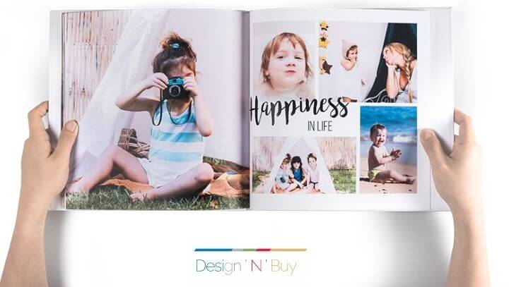 Offer print-ready template designs for photo books