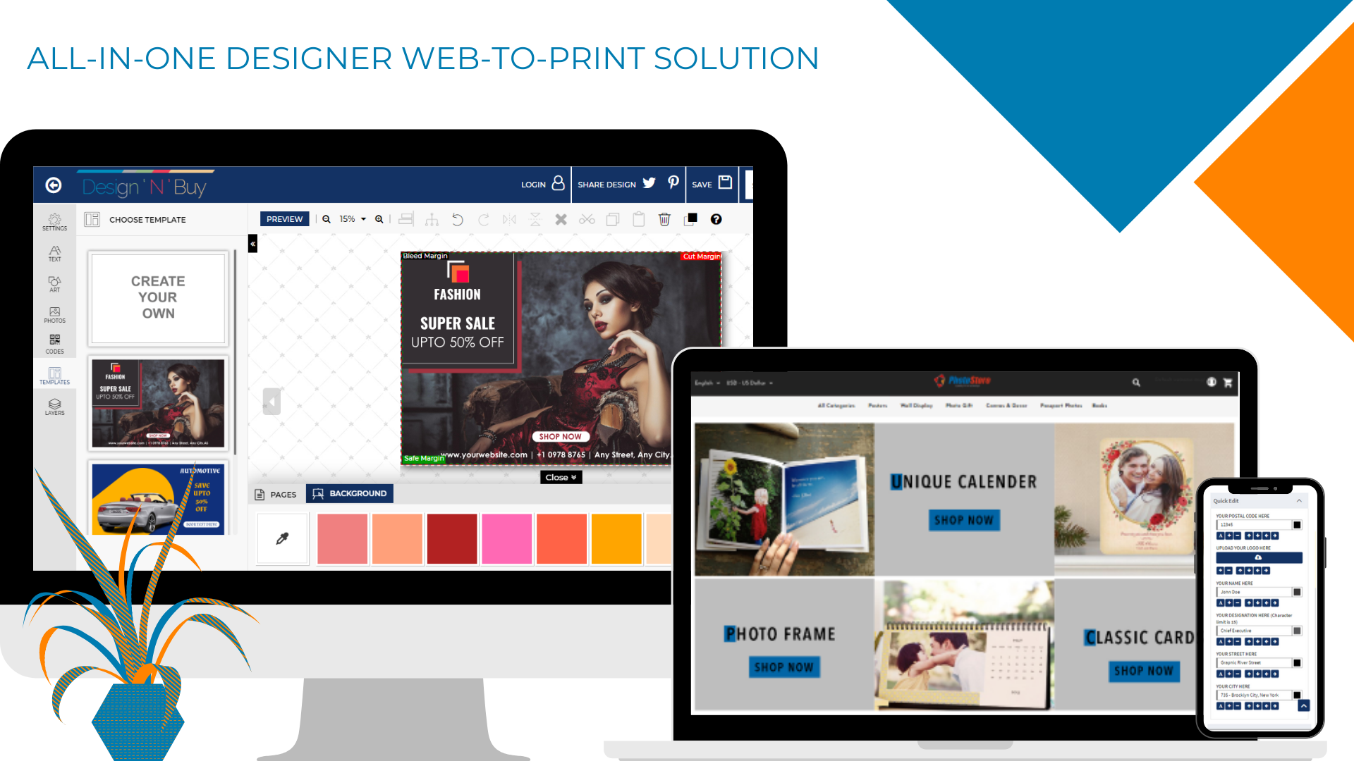 ALL-IN-ONE DESIGNER WEB-TO0PRINT SOLUTION