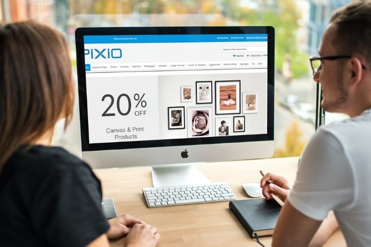 PIXIO with web to print