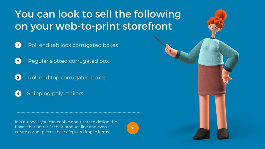 you can look to sell the following on your web-to-print storefront