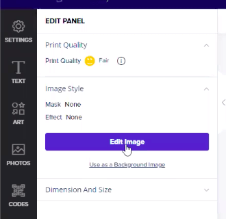 edit image feature