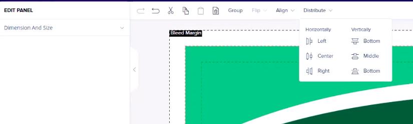 tools panel for design studio